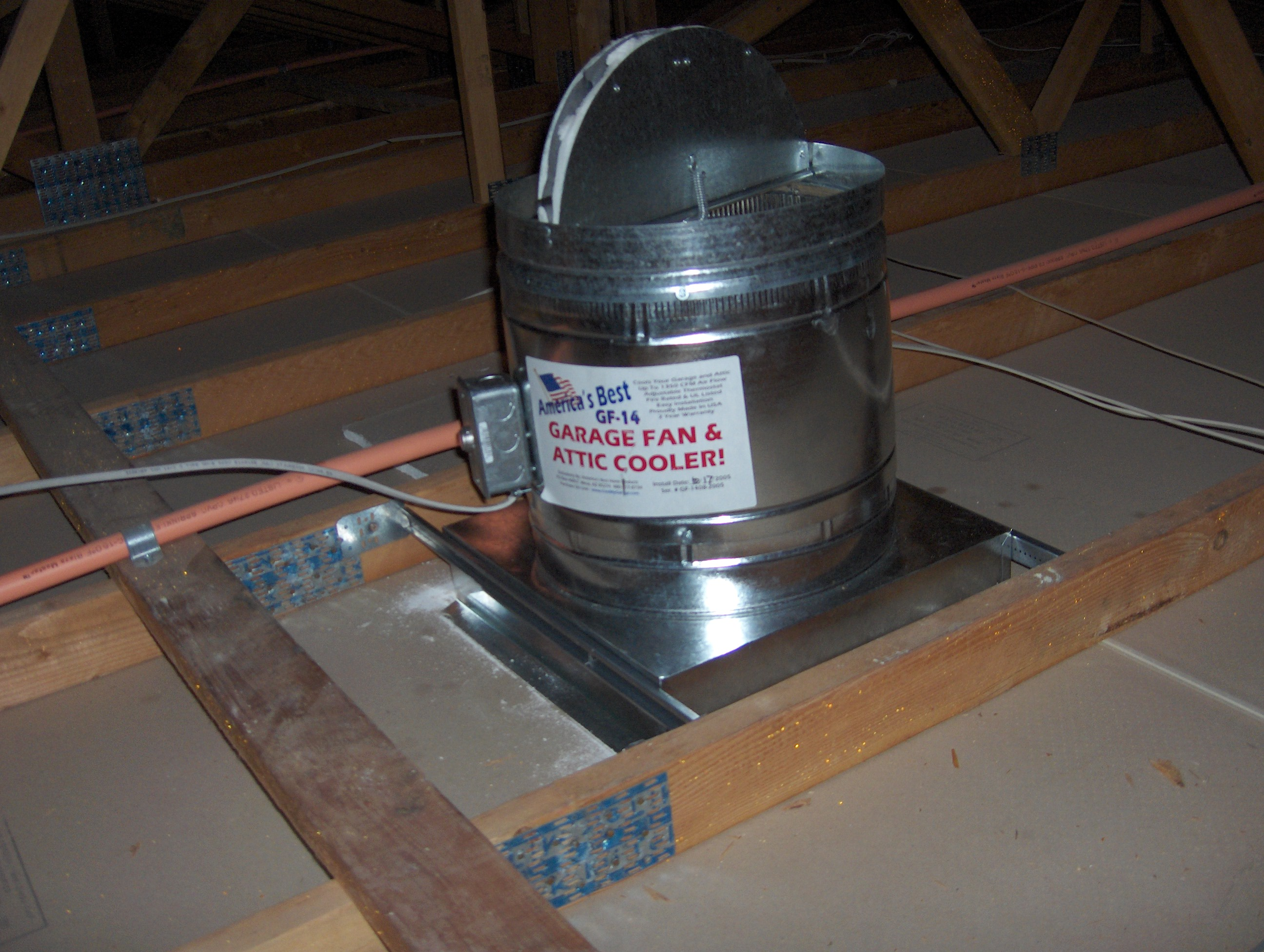 Garage Attic Fan >> The Gf 14 Garage Fan And Attic Cooler Buy Direct