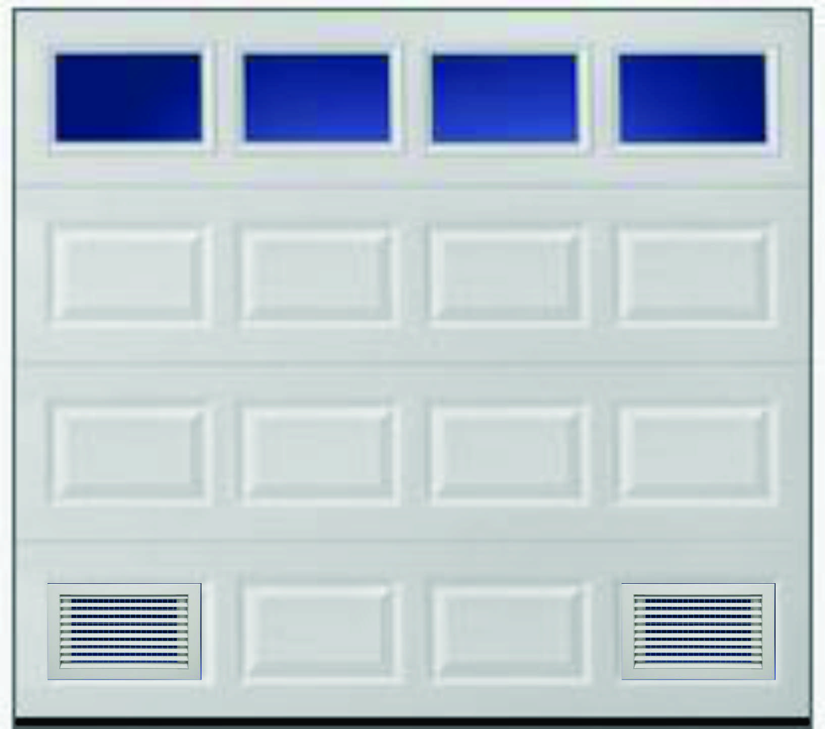 1445 #434063 Louvered Vent W Insect Screen Double Skin Insulated Door Louvered  wallpaper Louvered Garage Doors 38251634