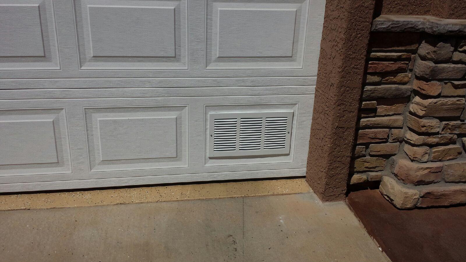Garage Door Ventilation : Aluminum air intake vent cool my garage