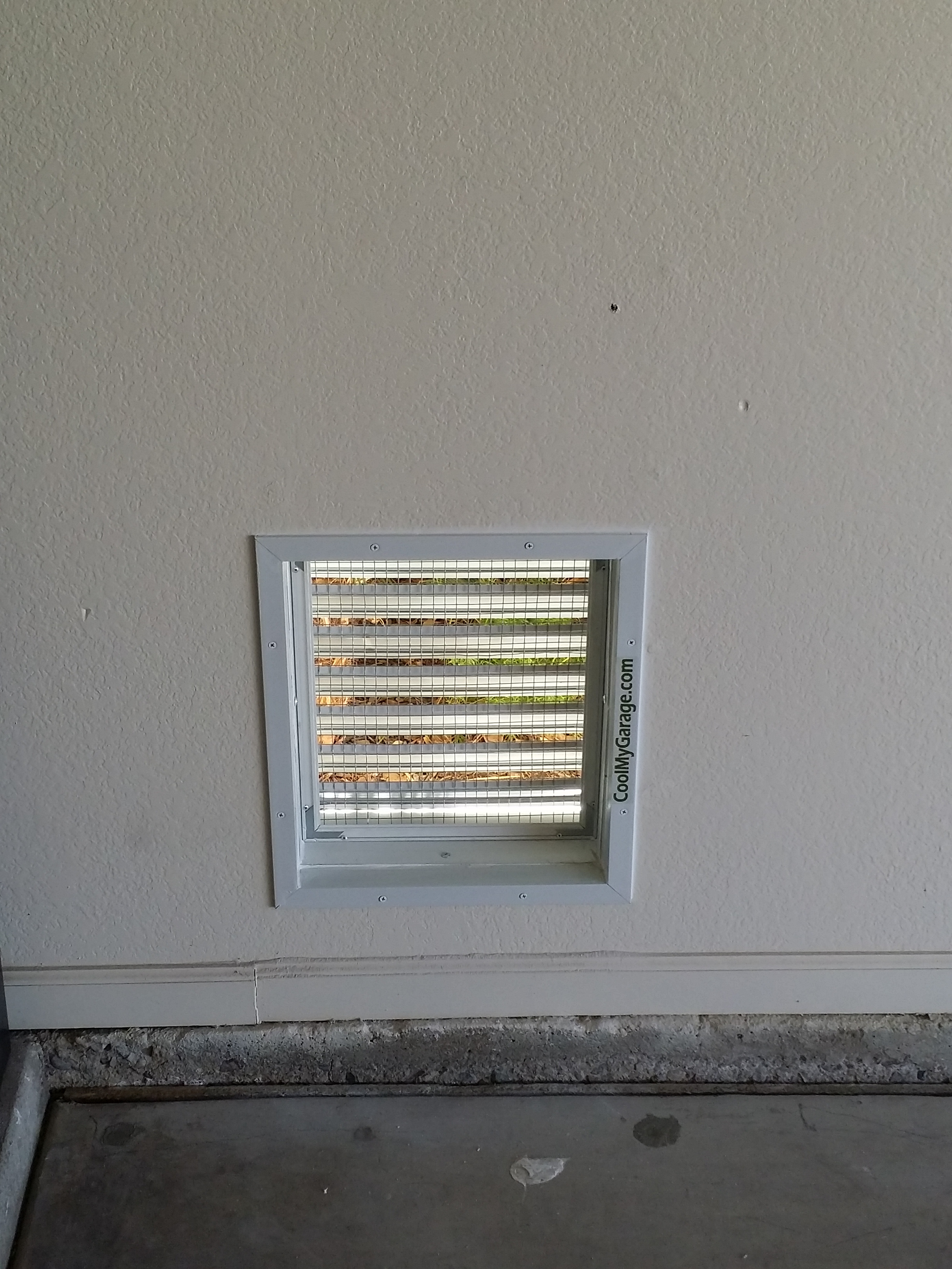 Aluminum Air Intake Vent Cool My Garage
