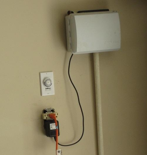 motor fan phoenix fans solar installation attic garage valleywide ceiling view interior elite mounted