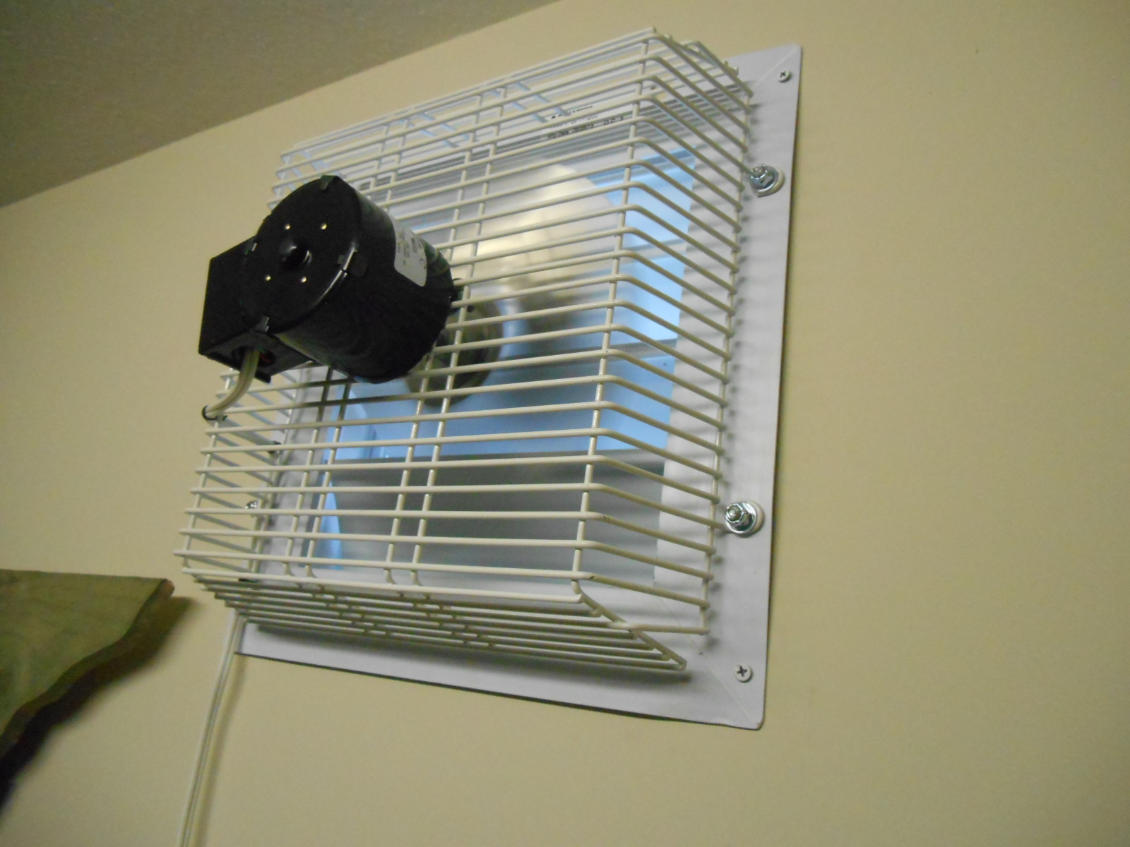 Through Wall Ventilation Fan : Gft through wall garage fan cool my